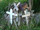 Crosses for obituaries