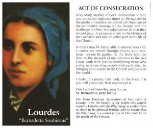 Lourdes leaflet