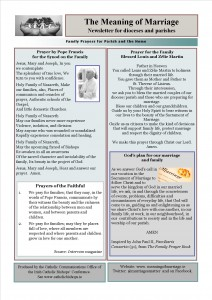 Meaning of Marriage Newsletter Issue 9 for Sunday 17 May 2015 backjpg