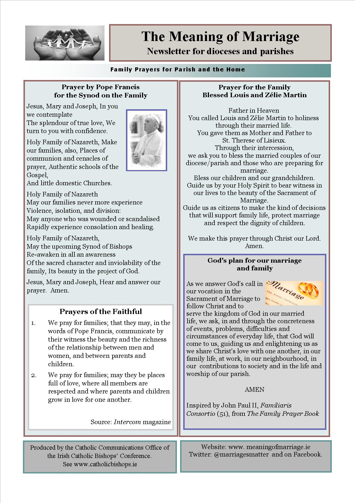 Meaning of Marriage Newsletter – Issue 9 - Diocese of Ferns
