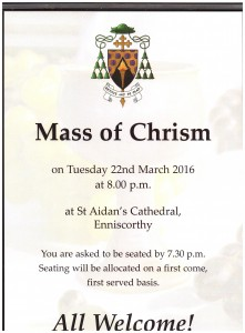 Chrism Mass poster