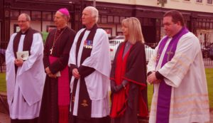 Canon Arthur Minion Bishop Denis Brennan The Venerable Chris Long Linda Long Rev Aodhn Marken  The Annual Civic Ecumenical Service of Remembrance in Redmond Square Wexford Ireland November 2016